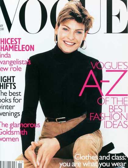 British Vogue Cover November 1996