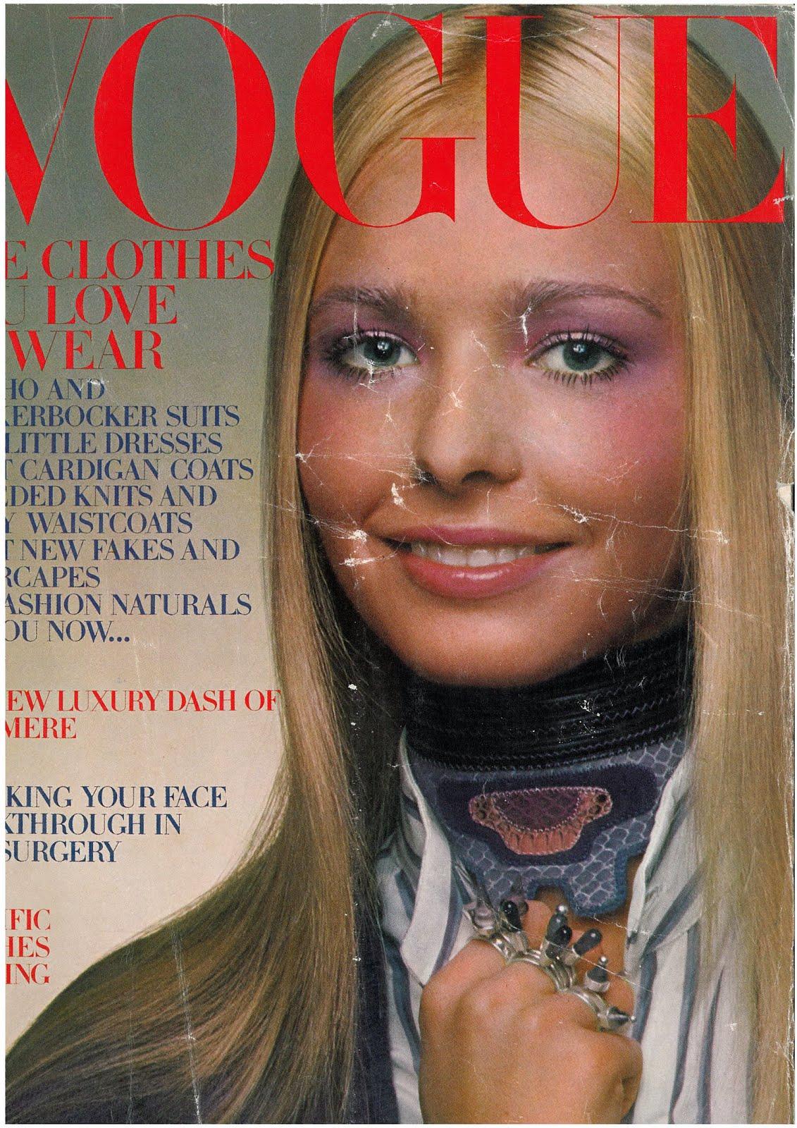 British Vogue Cover October 1970