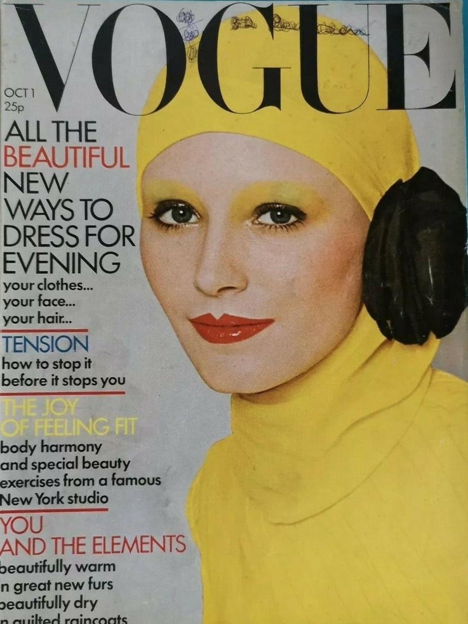 British Vogue Cover October 1971