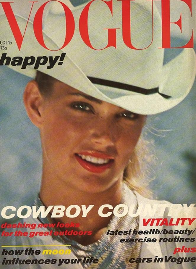 British Vogue Cover October 1978