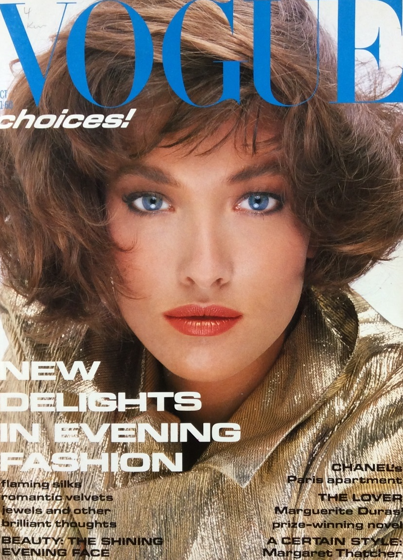 British Vogue Cover October 1985