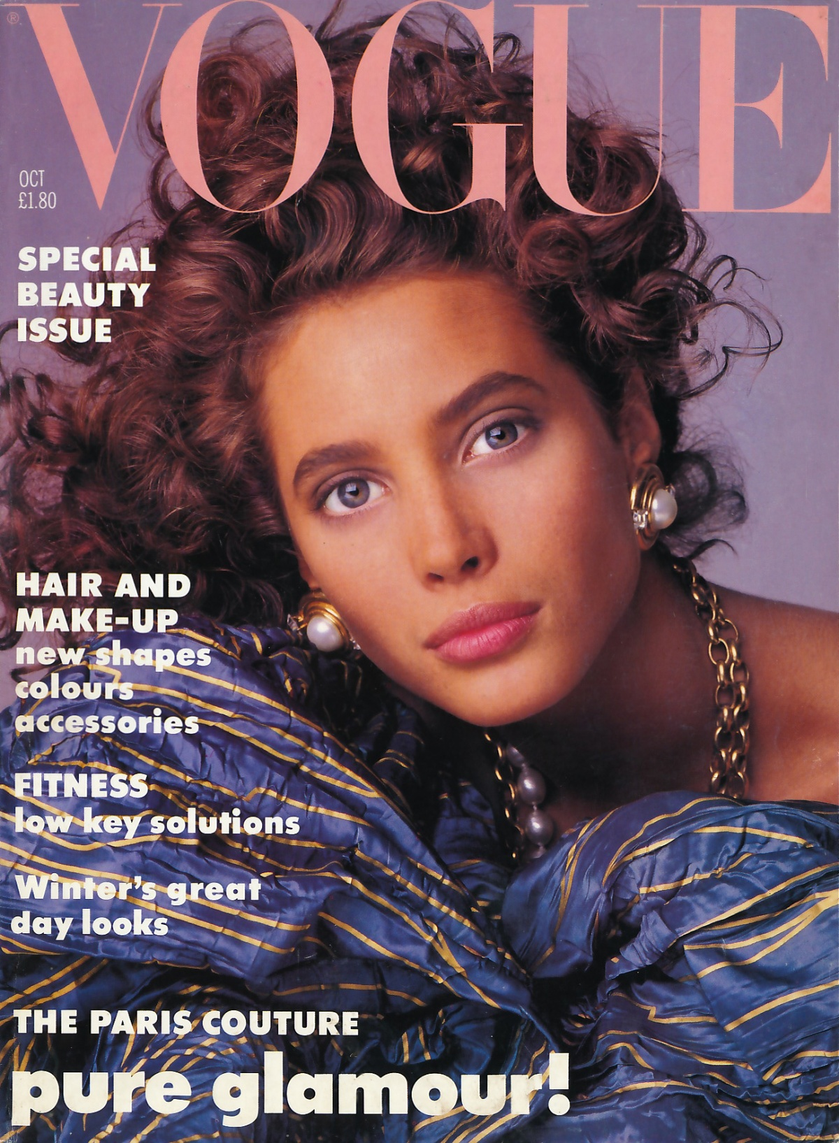 British Vogue Cover October 1986