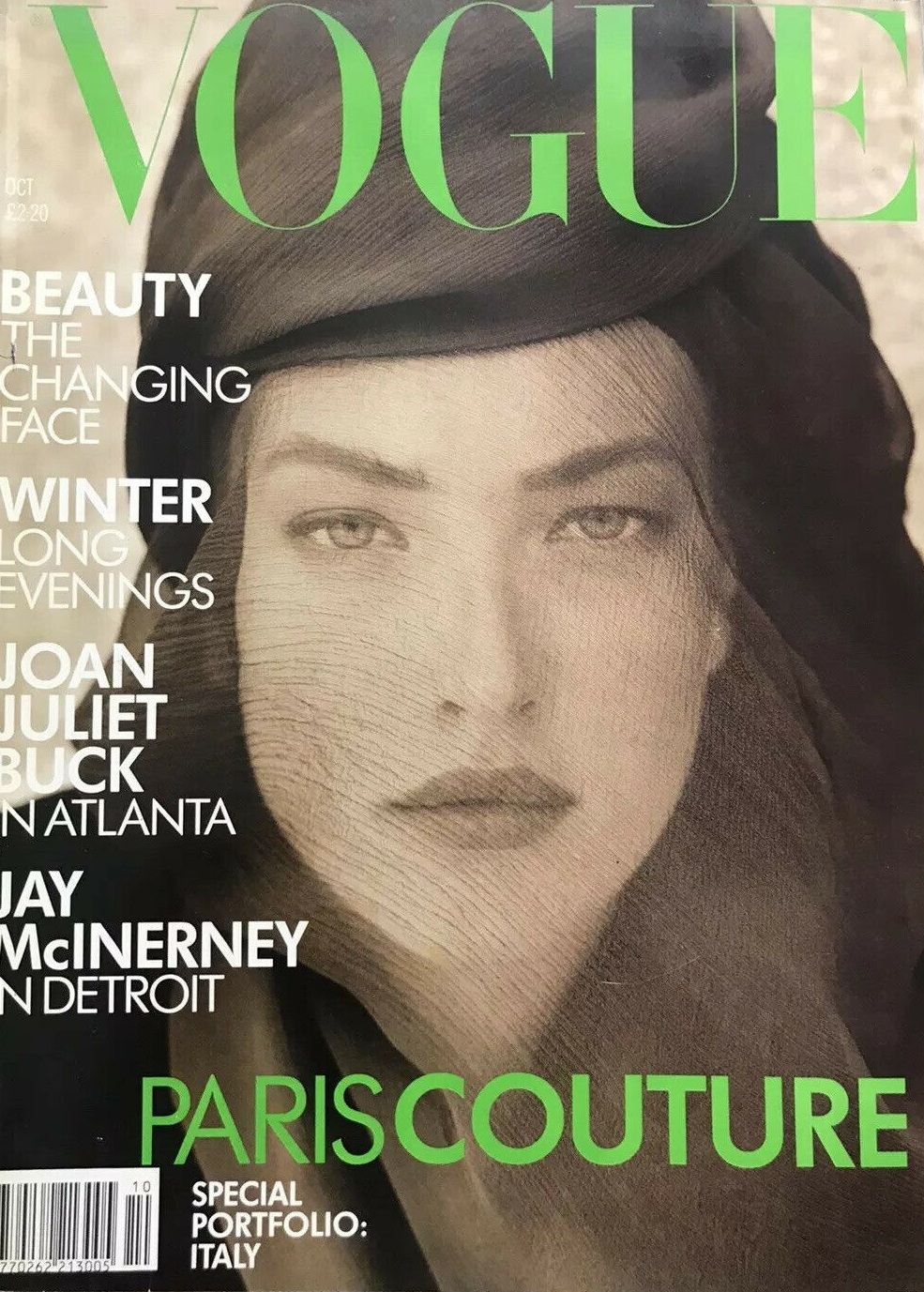British Vogue Cover October 1988