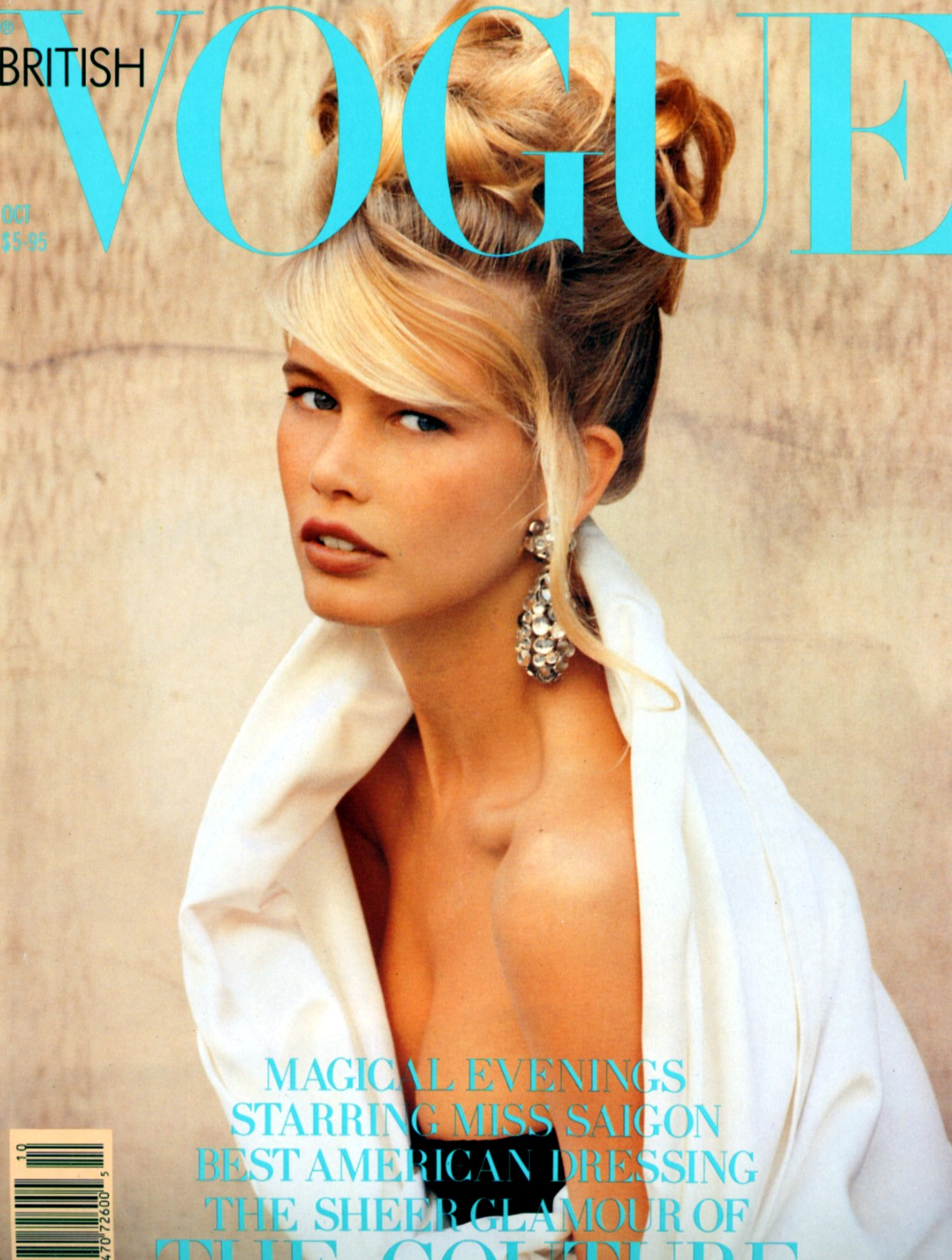 British Vogue Cover October 1989