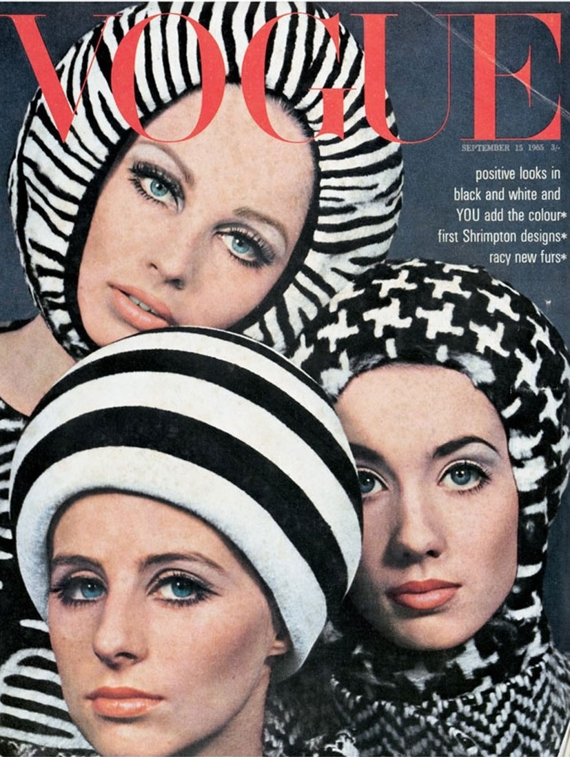 British Vogue Cover September 1965