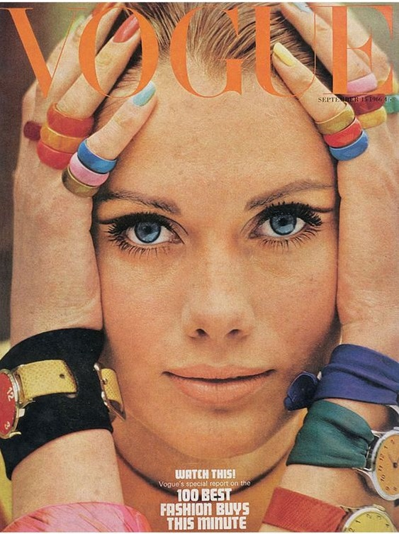 British Vogue Cover September 1966