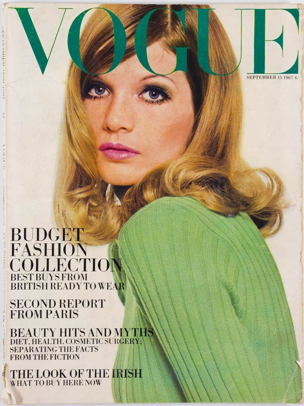 British Vogue Cover September 1967