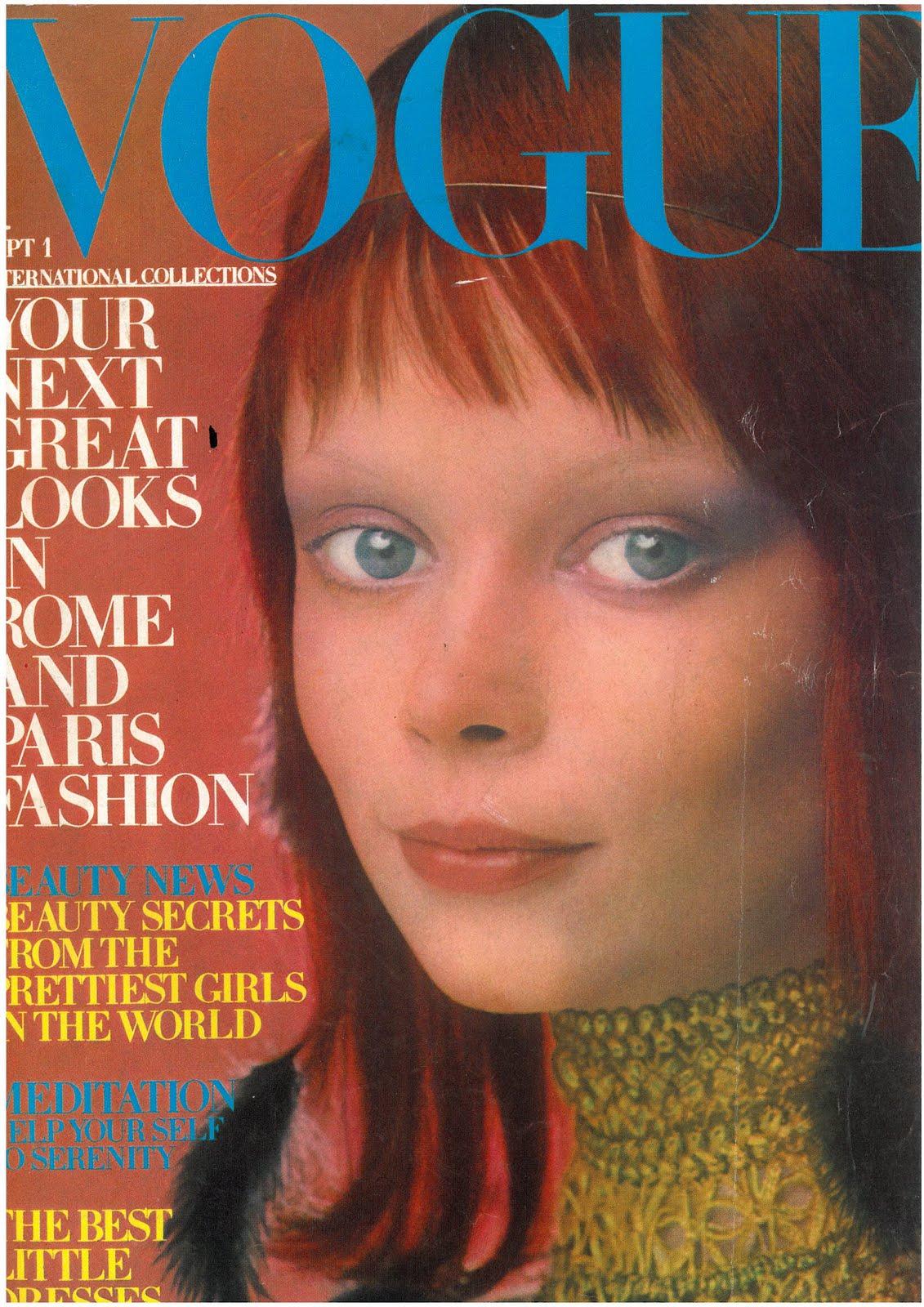 British Vogue Cover September 1970