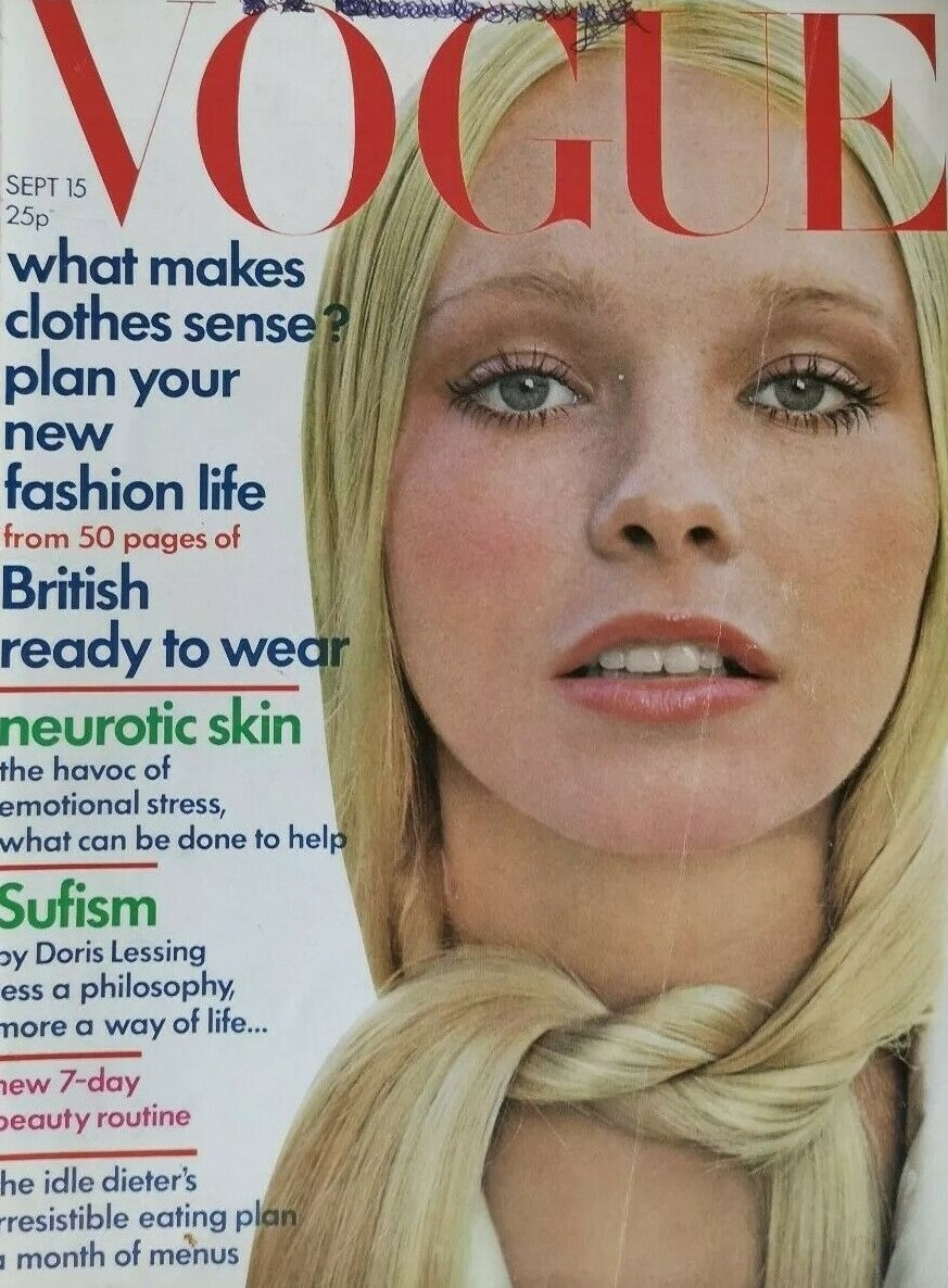 British Vogue Cover September 1971