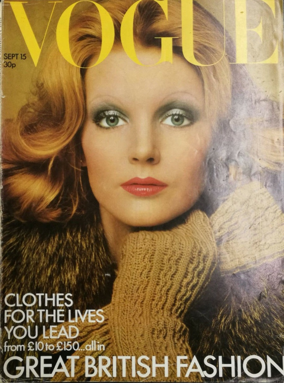 British Vogue Cover September 1972
