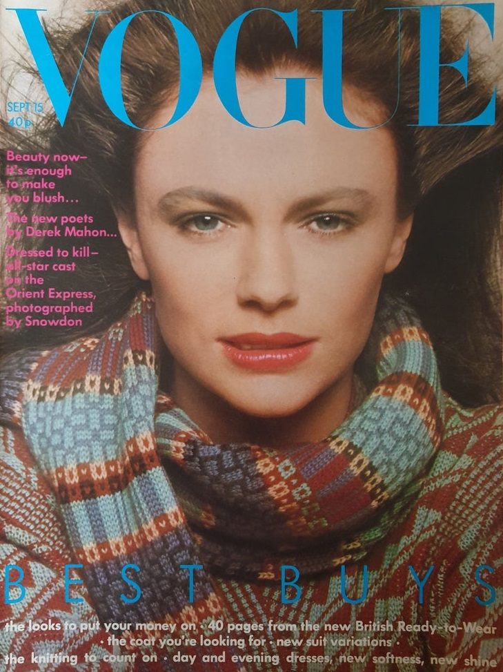 British Vogue Cover September 1974