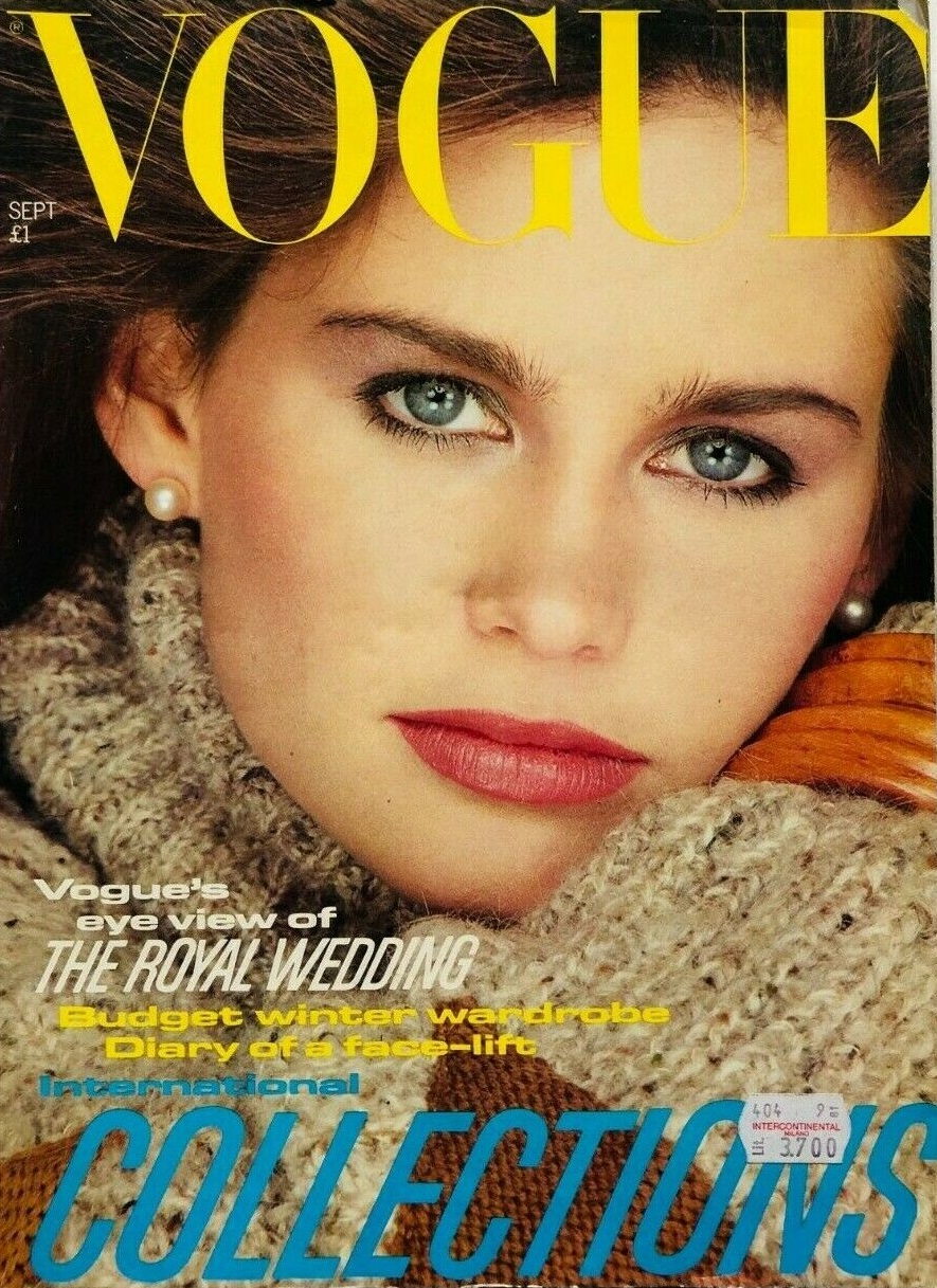 British Vogue Cover September 1981