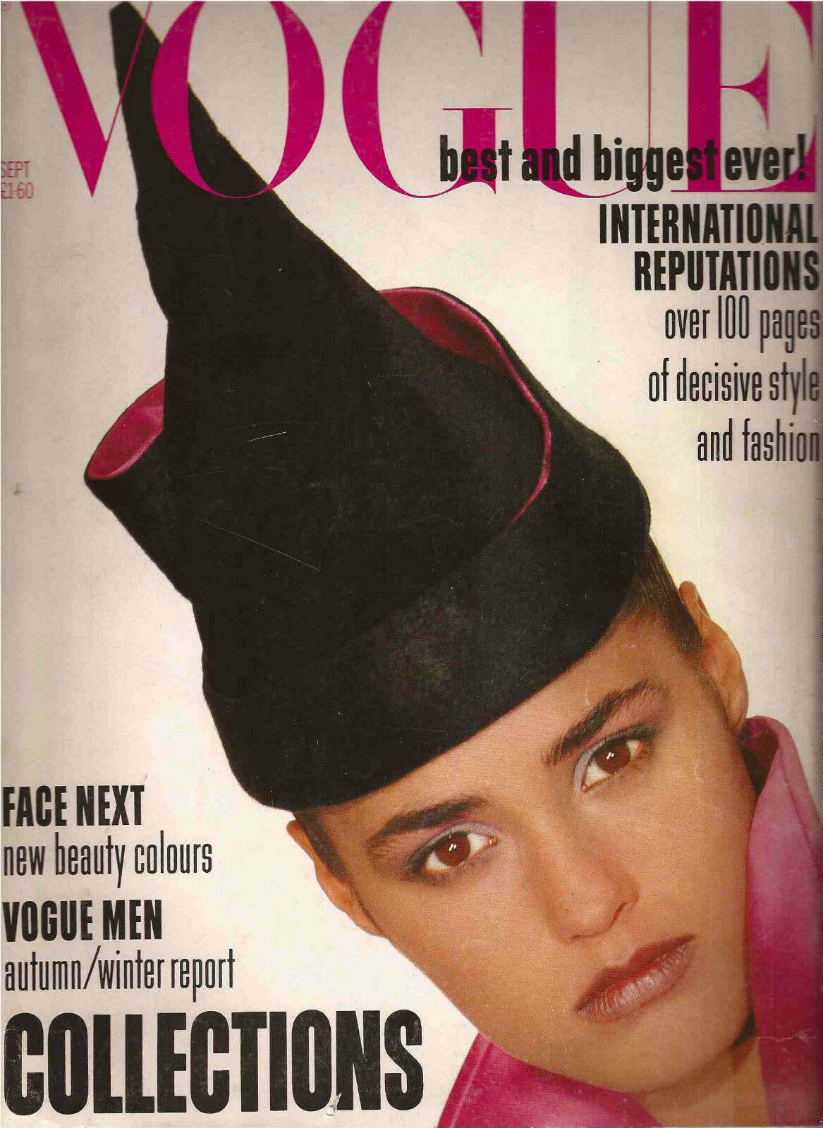British Vogue Cover September 1985