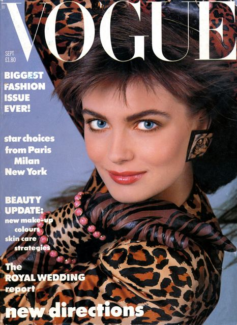 British Vogue Cover September 1986