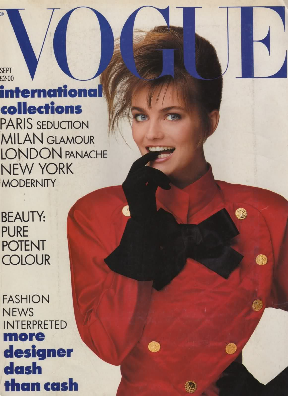 British Vogue Cover September 1987