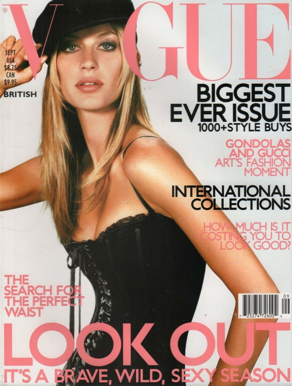 British Vogue Cover September 2001