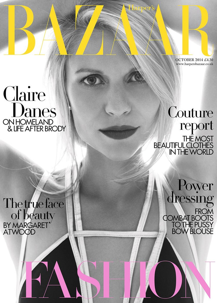 Claire Danes British Harper's Bazaar Cover October 2014