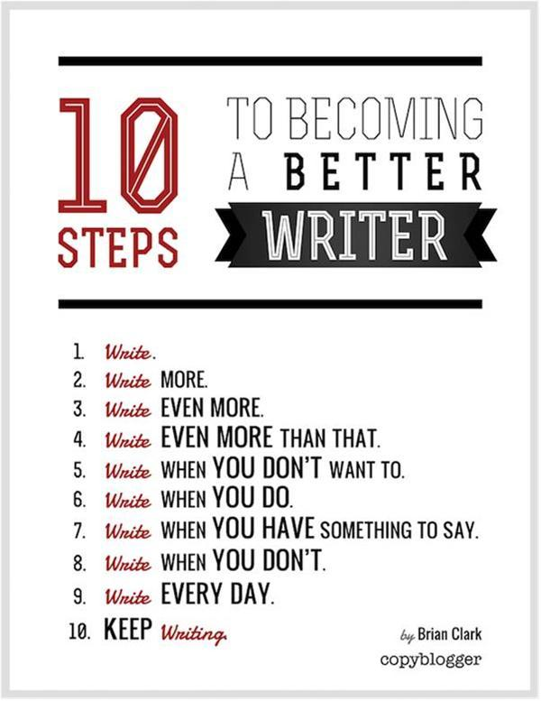 10 Steps To Becoming A Better Writer Infographic