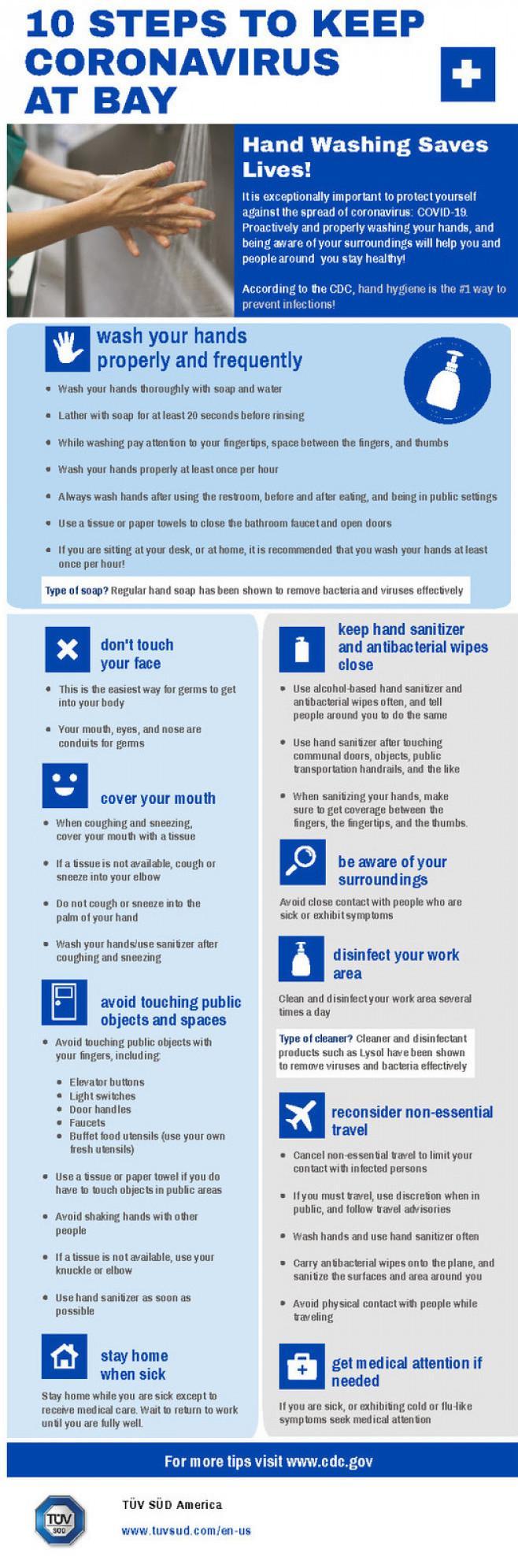 10 Ways to Keep Coronavirus at Bay