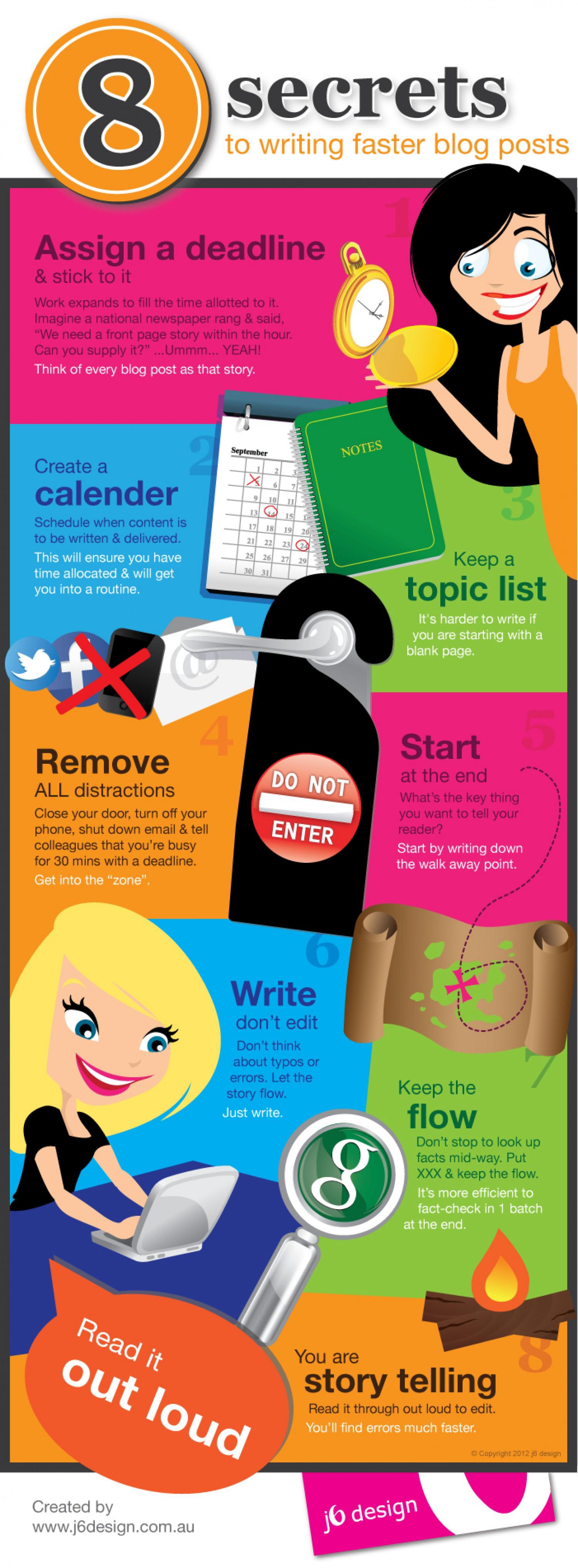 8 Secrets To Writing Faster Blog Posts Infographic