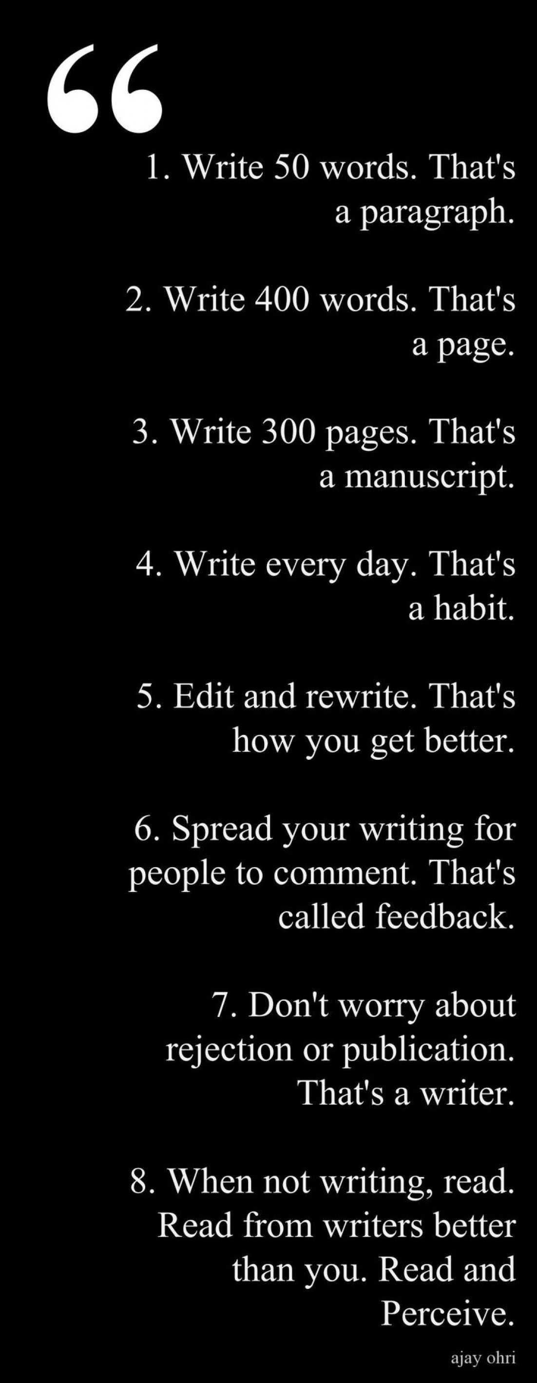 How To Be A Better Writer Infographic