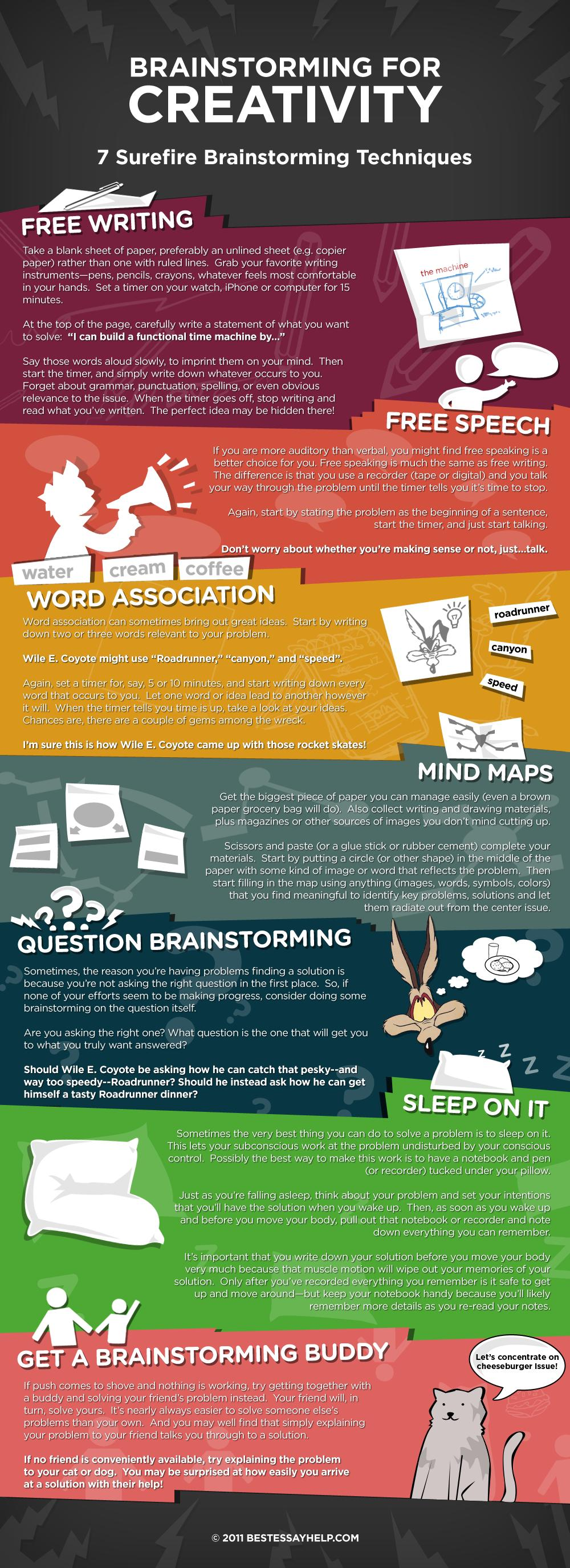 How To Brainstorm For Creativity Infographic