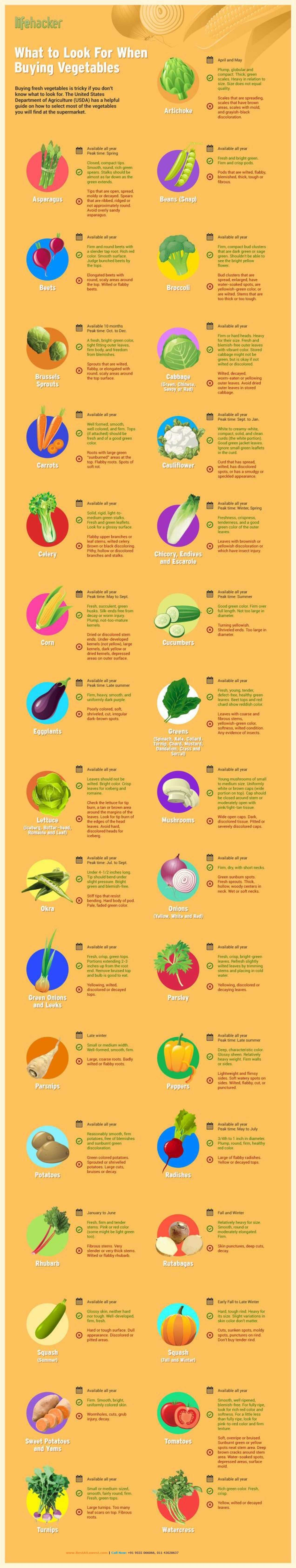 Vital Veggies Infographic