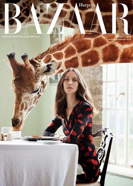 Alana Zimmer British Harper's Bazaar Cover March 2014