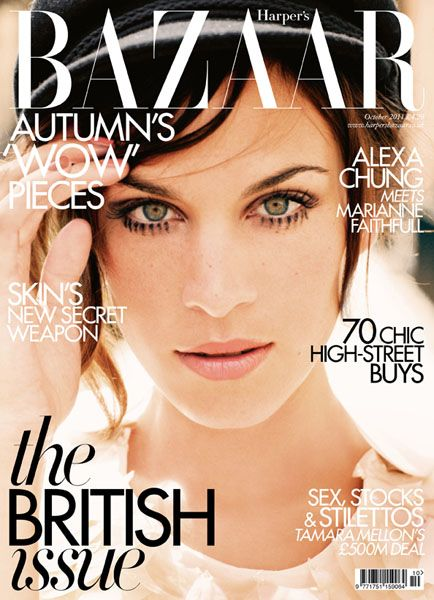 Alexa Chung British Harper's Bazaar Cover October 2011