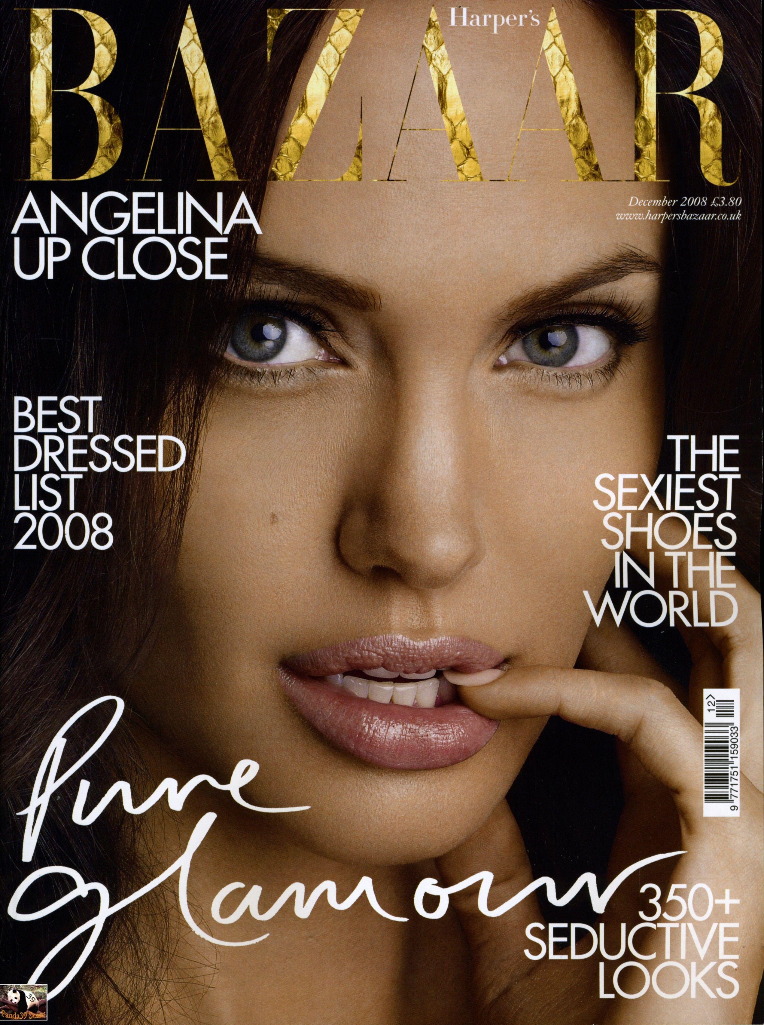 Angelina Jolie British Harper's Bazaar Cover December 2008