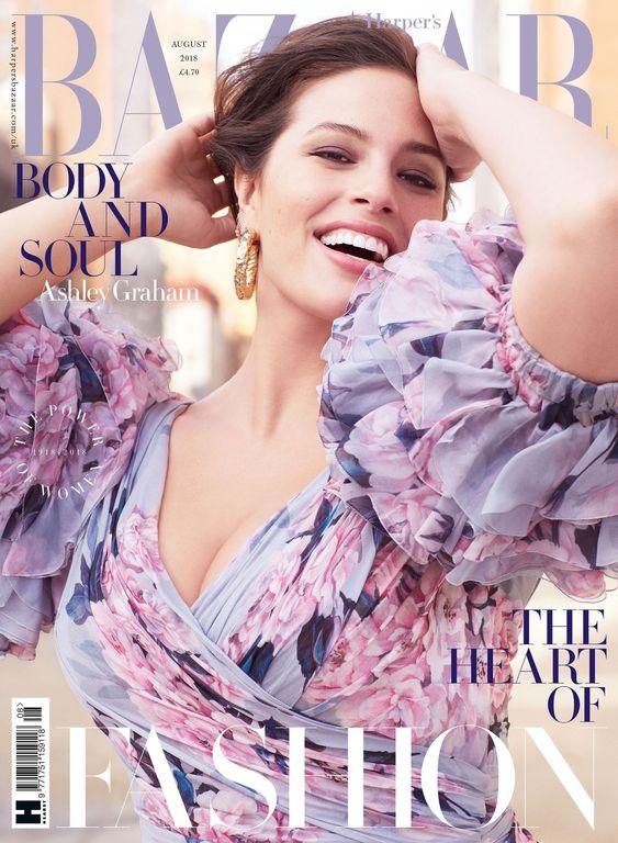 Ashley Graham British Harper's Bazaar Cover August 2018