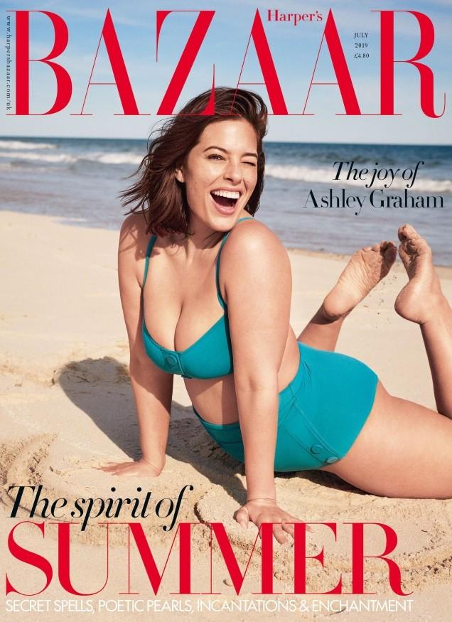 Ashley Graham British Harper's Bazaar Cover July 2019