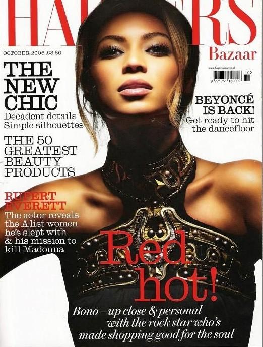Beyonce British Harper's Bazaar Cover October 2006