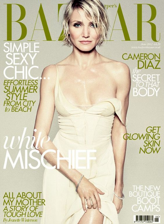 Cameron Diaz British Harper's Bazaar Cover June 2012