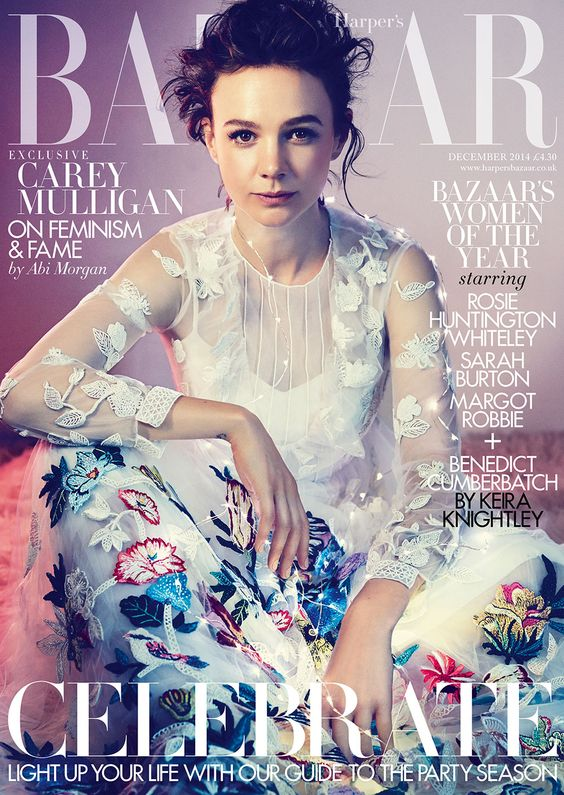 Carey Mulligan British Harper's Bazaar Cover December 2014
