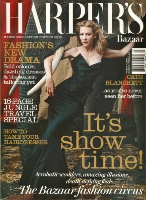 Cate Blanchett British Harper's Bazaar Cover March 2006