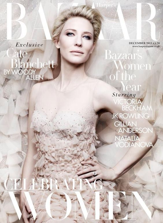 Cate Blanchett British Harper's Bazaar Cover December 2013
