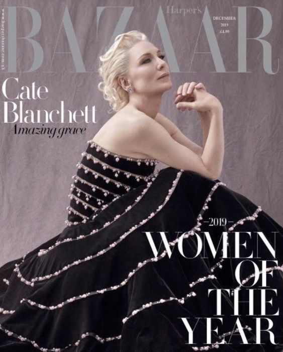 Cate Blanchett British Harper's Bazaar Cover December 2019