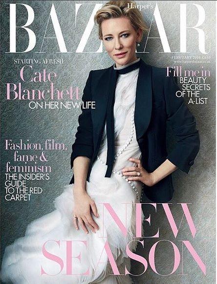 Cate Blanchett British Harper's Bazaar Cover February 2016
