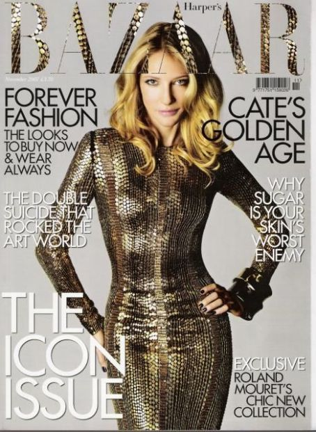 Cate Blanchett British Harper's Bazaar Cover November 2007