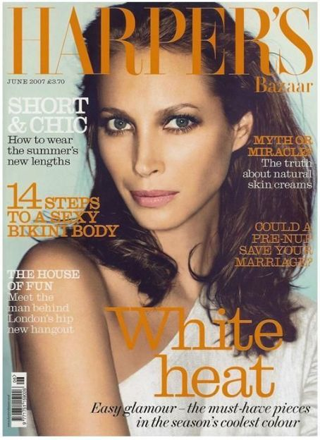 Christy Turlington British Harper's Bazaar Cover June 2007