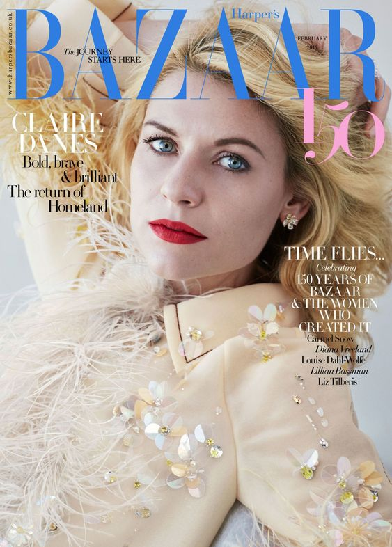 Claire Danes British Harper's Bazaar Cover February 2017