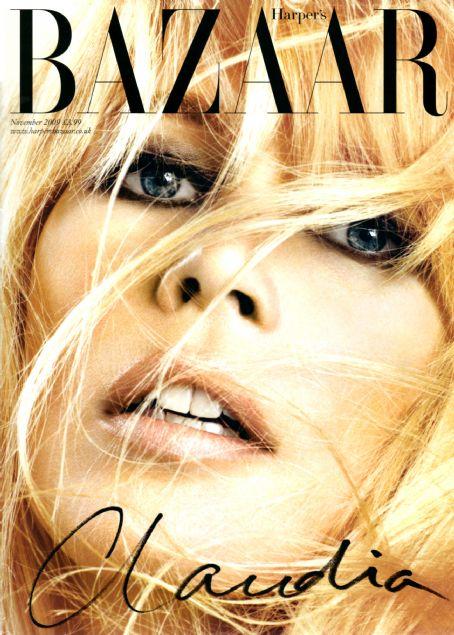 Claudia Schiffer British Harper's Bazaar Cover November 2009