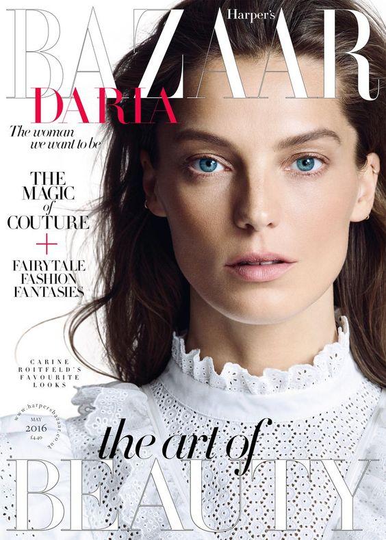 Daria Werbowy British Harper's Bazaar Cover May 2016
