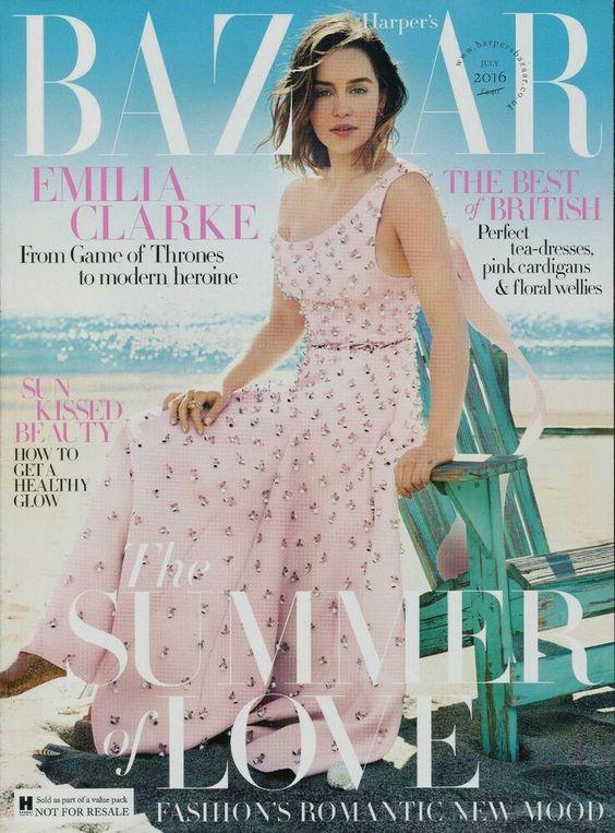 Emilia Clarke British Harper's Bazaar Cover July 2016
