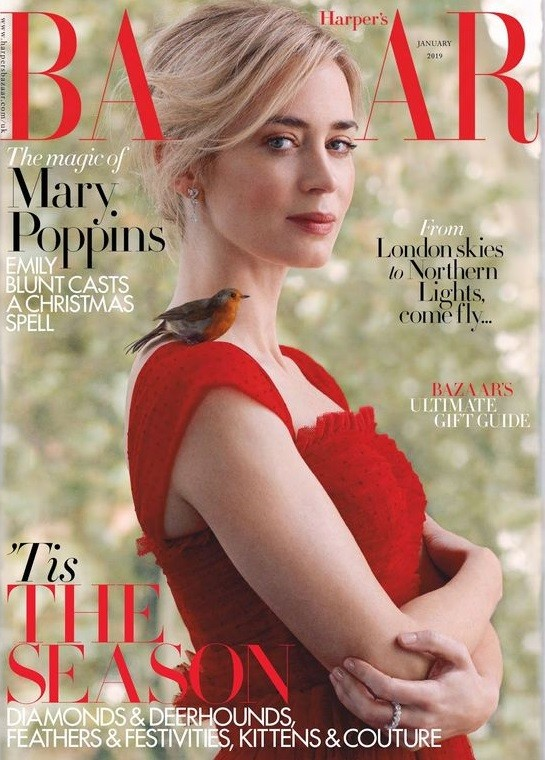 Emily Blunt British Harper's Bazaar Cover January 2019