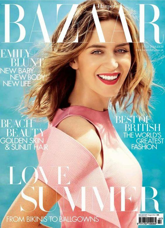 Emily Blunt British Harper's Bazaar Cover July 2014