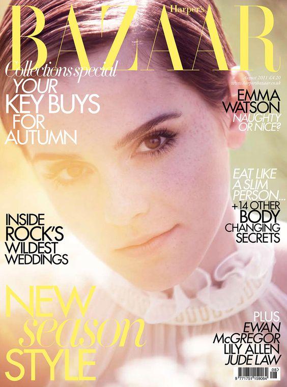 Emma Watson British Harper's Bazaar Cover August 2011