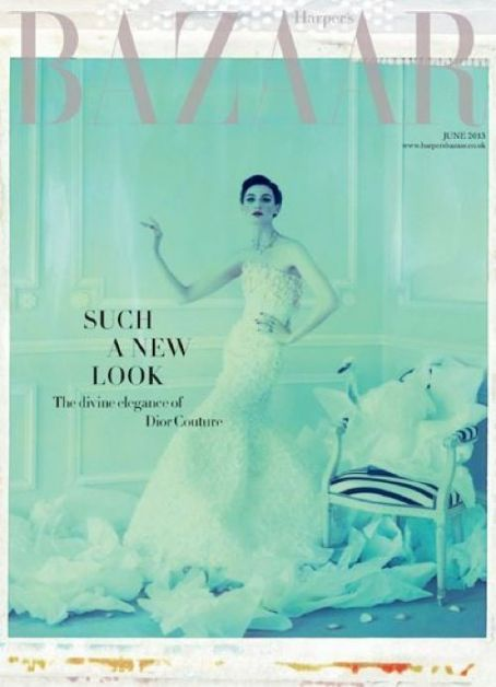 Erin O'Connor British Harper's Bazaar Cover June 2013