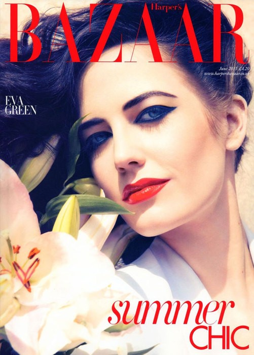 Eva Green British Harper's Bazaar Cover June 2011